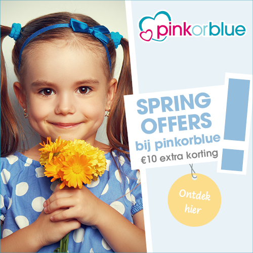 Lente korting Pink or Blue